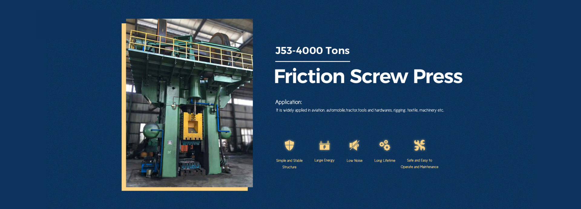 industrial metal press and friction screw press machine